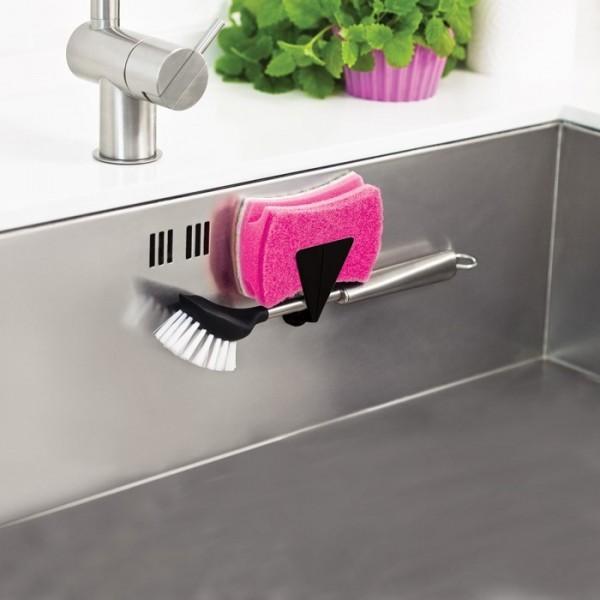Magnetic Holder for brush or sponge w/counter magnet, Length 6,5 cm Depth 2,5 cm