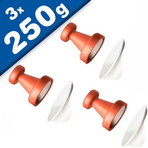 3 x Starke Magnethaken mit sk/ Metallscheiben - 8 Farben - Ø 2,5 cm - hält 250g