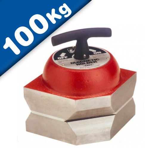 Permanent Magnet Holder, switchable, On Off Magnet, Clamping Force 1000 N /sq cm
