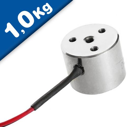 Elektromagnet / Elektro Haftmagnet, freie Anschlüsse, 12V / 24V, 1kg = 10N