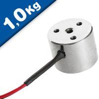 Magnet Holding Electromagnet Solenoid, free connections 12V / 24V pull 1kg = 10N