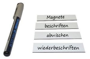 Magnetic Write-On/Write-Off Strips 2 cm x 8 cm - 100 pieces