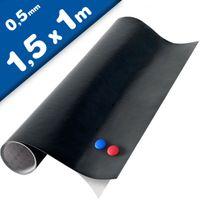 Magnetic Chalkboard Blackboard Vinyl Sheet, 150cm x 100cm + 2x chalk