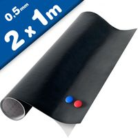 Magnettafel Kreidetafel - Tafelfolie magnetisch selbstklebend 2 x 1m + 2 Kreide
