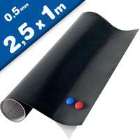 Magnettafel Kreidetafel - Tafelfolie magnetisch selbstklebend 2,5x1m + 2 Kreide