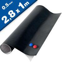 Magnetic Chalkboard Blackboard Vinyl Sheet, 280cm x 100cm + 2x chalk
