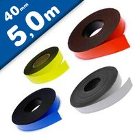 Coloured Magnetic Tape/Strip, Marking Tape, Label Magnets 0,85 mm x  40 mm x 5 m
