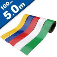 Coloured Magnetic Tape/Strip, Marking Tape, Label Magnets 0,85 mm x 100 mm x 5 m