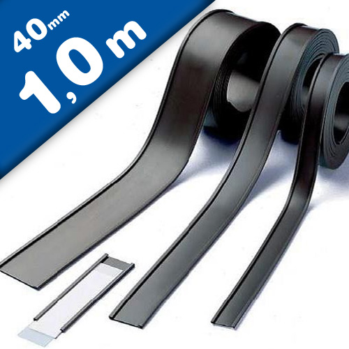 C-Channel Magnetic Card/Label Holders 40mm wide, by the meter, Warehouse Magnets
