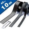 C-Channel Magnetic Card/Label Holders 40mm wide, by the meter, Warehouse Magnets 001