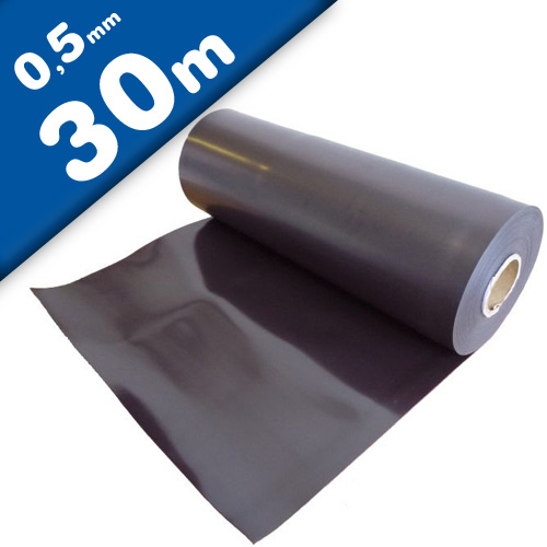 Plain magnetic sheet brown 0,5mm x 0,62m x 30m