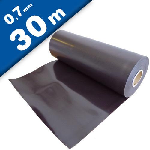 Feuille magnétique Caoutchouc aimanté brun 0,7mm x 0,62m x 30m - Rouleau
