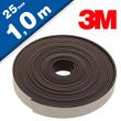 Flexible Magnetic Tape Strip with 3M adhesive 1,6mm x 25mm x 100cm, very strong 001
