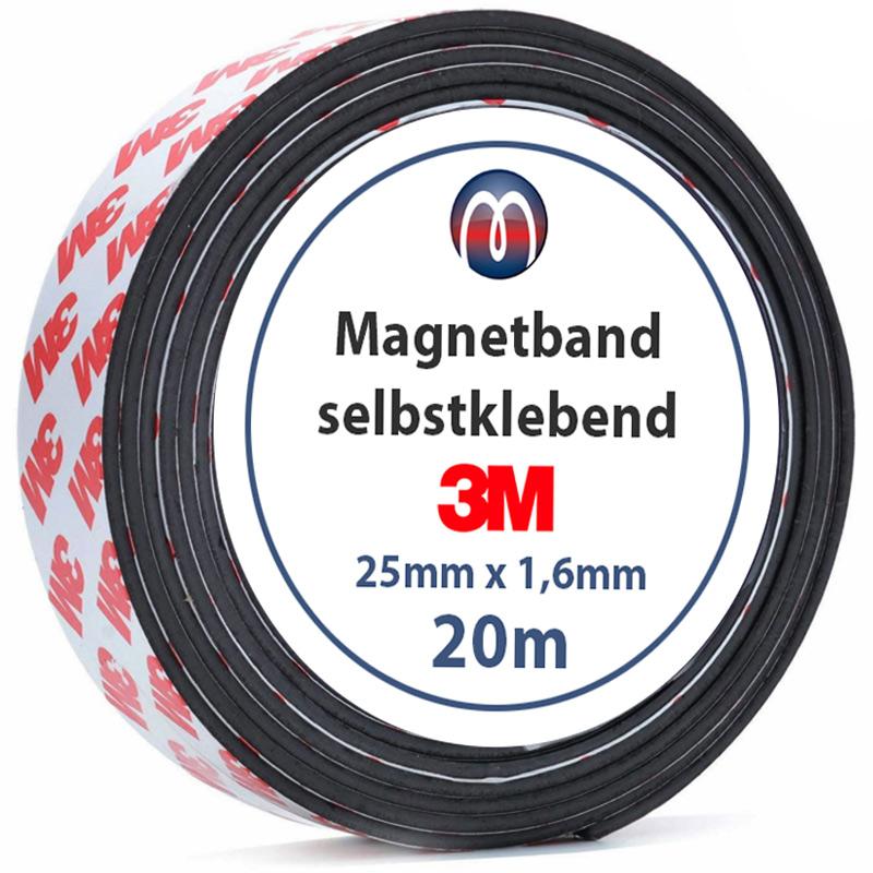 Cinta magnética con adhesivo 3M Fuerte Banda Magnética Autoadhesiva Tira de Imán Flexible