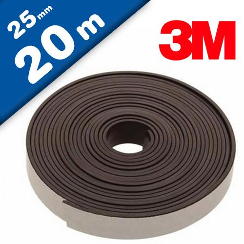 Magnetband Magnetstreifen selbstklebend mit 3M Kleber 1,6mm x 25mm x 20m - Rolle