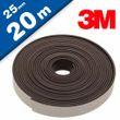 Magnetband Magnetstreifen selbstklebend mit 3M Kleber 1,6mm x 25mm x 20m - Rolle 001