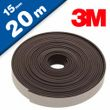 Flexible Magnetic Tape Strip with 3M adhesive 2mm x 15mm x 20m, very strong 001