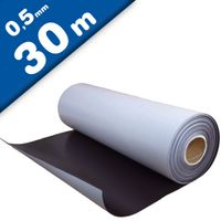 Plain magnetic sheet with self adhesive 0,5mm x 0,62m x 30m