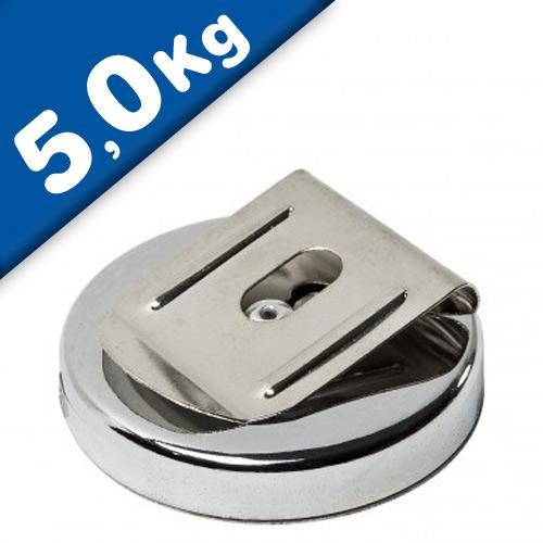 Gürtel Magnet-Clip / Magnetischer Gürtelklipp Ø 51,5mm - Haftkraft 5 kg