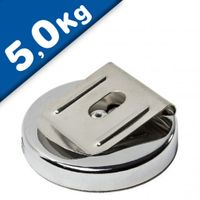 Magnetic Belt Clip Ø 51,5mm - adhesion 5 kg