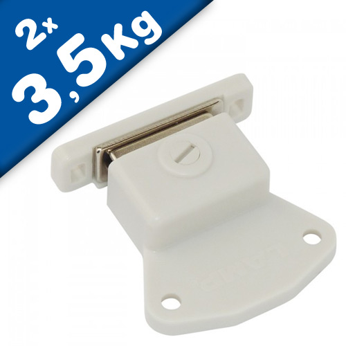 Magnetic Door Catches Latches | set of 2 | holds 3,5 kg