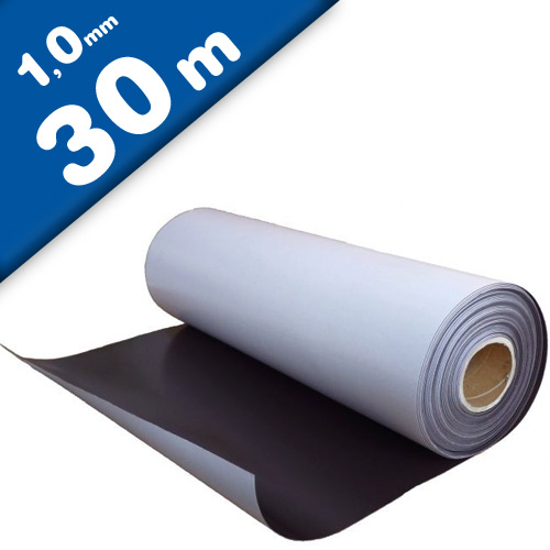 Plain magnetic sheet with self adhesive 1mm x 0,62m x 30m