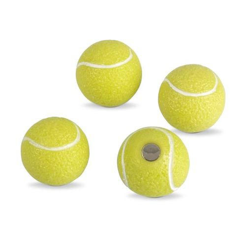 4 x k hlschrankmagnete tennis 22mm magnete f r pinnwand. Black Bedroom Furniture Sets. Home Design Ideas