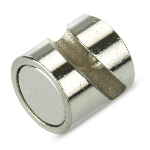 Innovativ 2 x Deko-Magnet mit Haken Ø 12 mm Neodym, silber - Haftkraft 5,5  ZD66