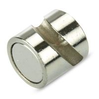 Deco magnet with hook Ø 12 mm neodymium nickel - holds 5,5 kg  - 2 pieces