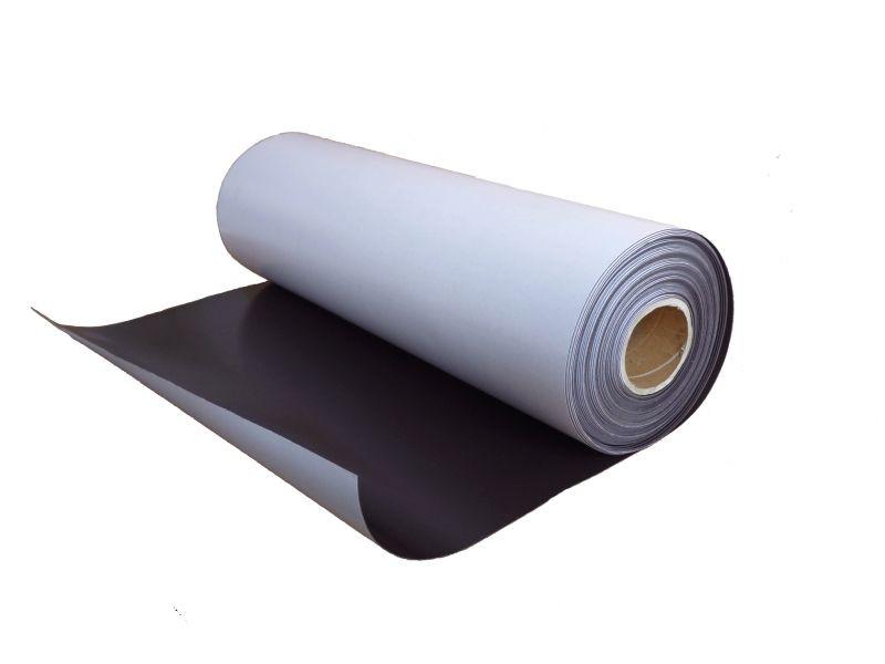 Feuille magnétique Caoutchouc aimanté adhesif brun 0,9mm x 0,62m x 1m - au mètre