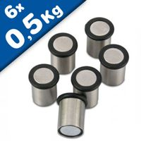 6 x Stainless Steel Magnetic Holder | magnetic pin Ø 15 mm 6 pieces holds 500gr
