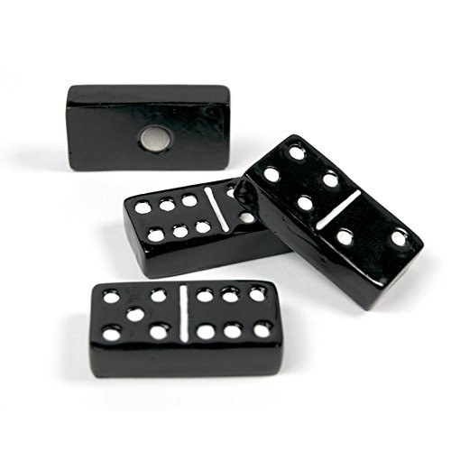 Memo magnets domino - Set with 4 pcs.sorted magnets black | 30mm x 15mm x 7mm