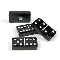 Aimants déco domino | lot de 4 aimants, noir | 30mm x 15mm x 7mm
