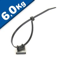 Magnetic Cable Tie Mount Stainless Steel 26 x 23 x 6.3mm thick 6.1kg Pull