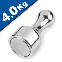 Skittle Magnet Aluminum 30mm high - force 4 kg