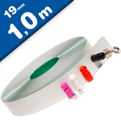 Metallband / Stahlband selbstklebend weiß - Wandleiste - Breite 19mm - Meterware
