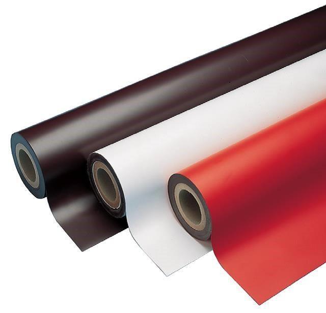 Magnetfolie weiß matt beschichtet 0,4mm x  50cm x  62cm