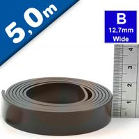 Self Adhesive Magnetic Tape Magnet Strip B 1.5mm x 12,7mm x  5m