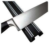 Messer Magnetleiste, Magnet Messerhalter Messerleiste stark, schwarz - 30/45cm