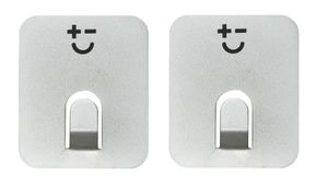 Magnetic hooks/Key Hooks - two pieces (silver)