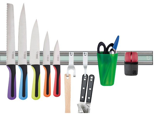 Magnetic Knife Holder and Accessories Kit, 10-Piece Set - Magnetic Knife Rack