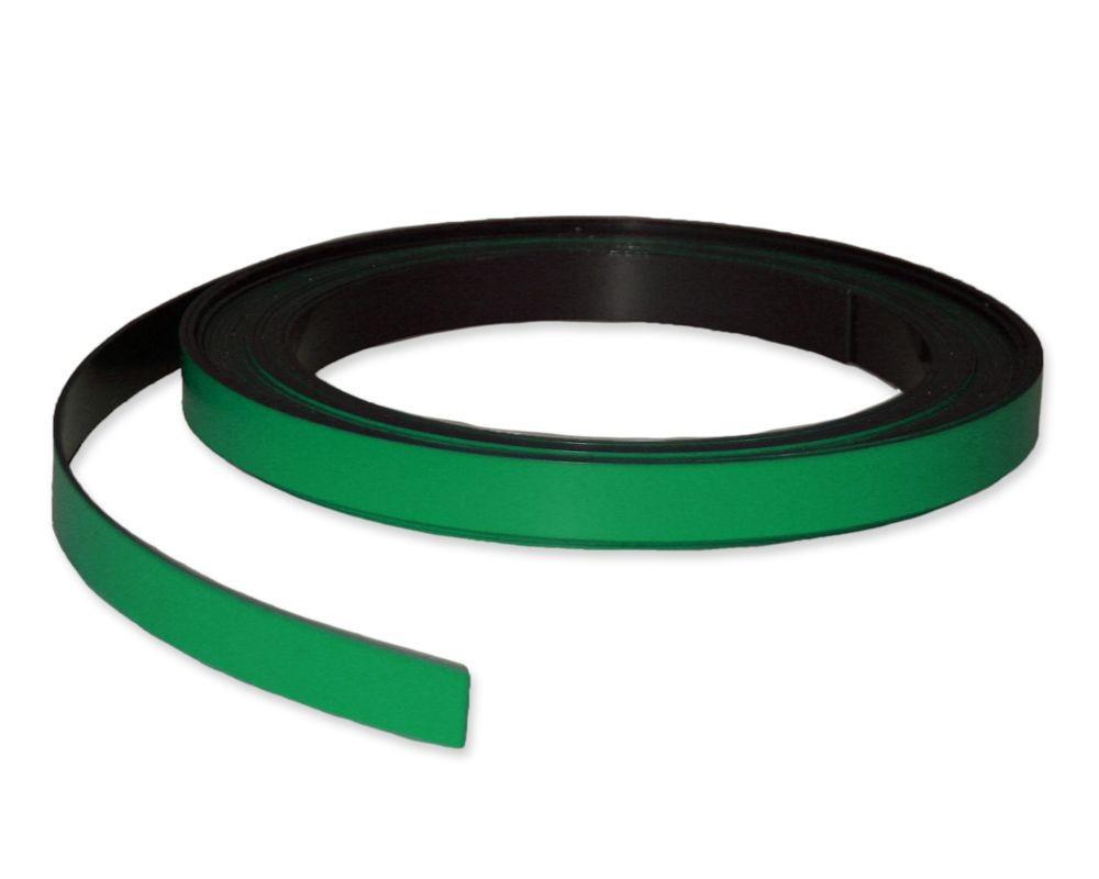 Meterware Breite 15 mm gr/ün Magnetband Kennzeichnungsband