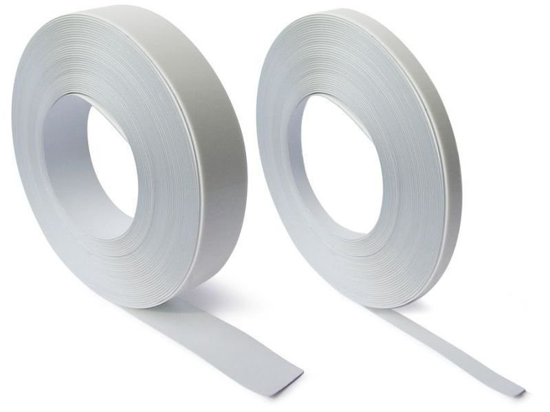White steel tape with premium self adhesive 35mm wide x 1.5mm thick x 25 m