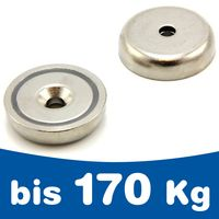 Countersunk pot magnet screw-on Ø 10 - 75mm