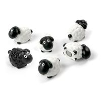 Deco magnets shaped as sheeps, Set of 6