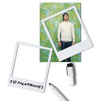 6 x Magnetic Picture Photo Frames WHITE plus dry-erase marker pen - Fridge Magnets