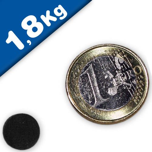 Scheibenmagnet / Rundmagnet Ø 10x 3mm – Neodym N35 (NdFeB) Epoxid - hält 1,8 kg