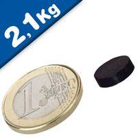 Scheibenmagnet / Rundmagnet Ø 10x 3mm – Neodym N45 (NdFeB) Epoxid - hält 2,1 kg