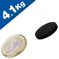 Scheibenmagnet / Rundmagnet Ø 20x 3mm – Neodym N45 (NdFeB) Epoxid - hält 4,1 kg