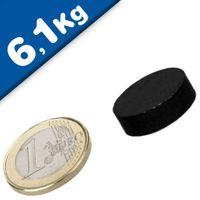 Scheibenmagnet / Rundmagnet Ø 20x 5mm – Neodym N42 (NdFeB) Epoxid - hält 6,1 kg